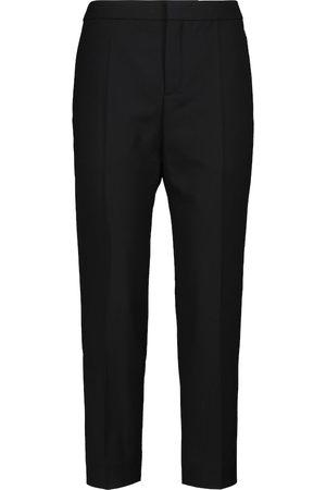 Chloé Pantaloni slim in lana stretch