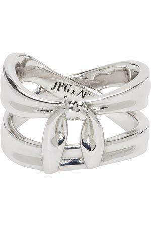 Jean Paul Gaultier Uomo Anelli - SSENSE Exclusive Silver Alan Crocetti Edition Double Wrap Bandana Ring