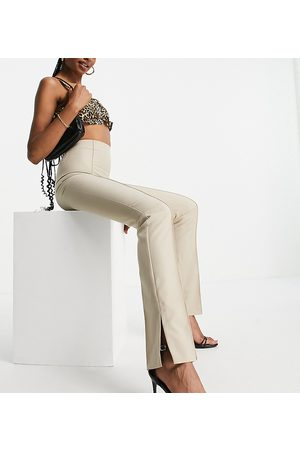 ASOS Donna Slim & Skinny - ASOS DESIGN Tall - Mansy - Pantaloni skinny cammello con spacchi laterali-Neutro