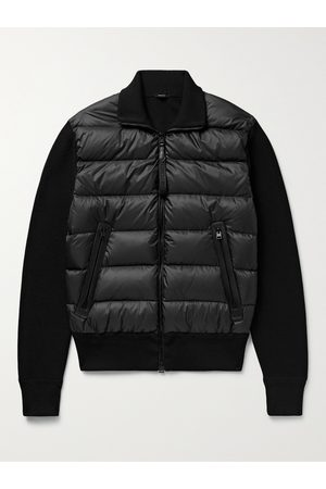 TOM FORD Uomo Giacche di pelle - Slim-Fit Leather-Trimmed Ribbed Wool and Quilted Shell Down Jacket