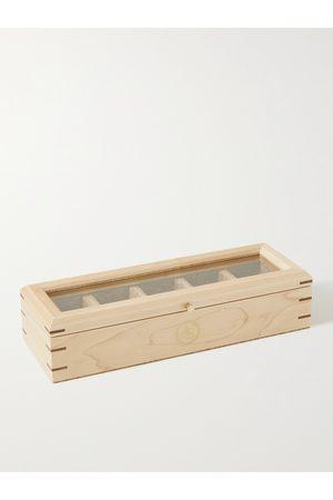 Wolf Analog/Shift Flatiron II Maple and Walnut Wood Five-Piece Watch Box