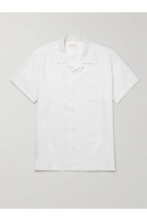 DEREK ROSE Camp-Collar Linen Shirt