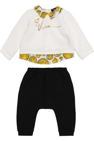 VERSACE Stretch - Baby - Top e pantaloni in cotone stretch
