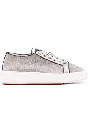 santoni Donna Sneakers - Sneakers Derby con paillettes