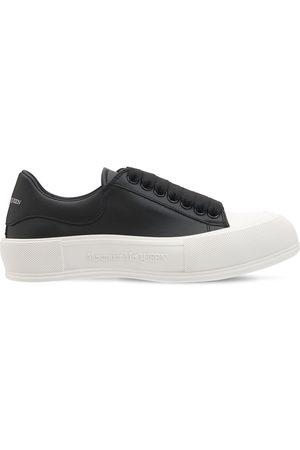 Alexander McQueen Donna Sneakers - Sneakers Deck Plimsoll In Pelle 45mm