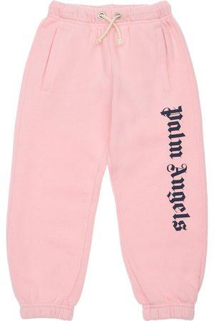 PALM ANGELS Pantaloni In Felpa Di Cotone Con Logo