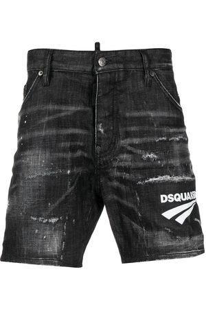 Dsquared2 Uomo Pantaloncini - Shorts denim con stampa
