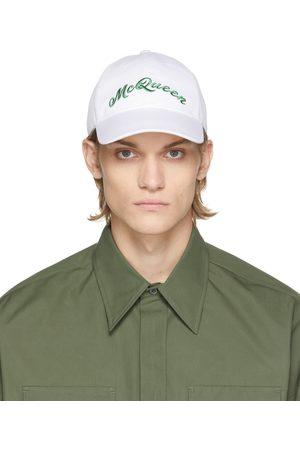 Alexander McQueen White & Green Logo Cap