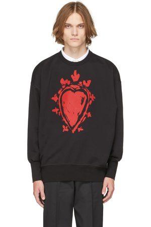 Alexander McQueen Uomo Felpe - Black Painted Heart Sweatshirt