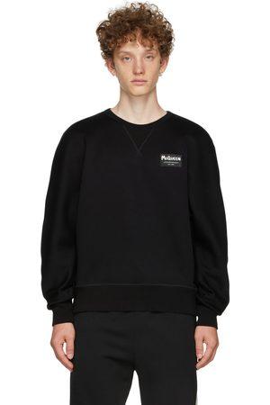 Alexander McQueen Uomo Felpe - Black Jersey Graffiti Badge Sweatshirt
