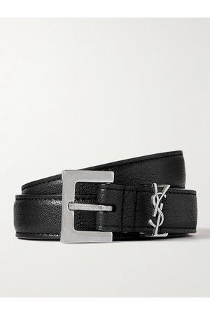Saint Laurent Uomo Cinture - 2cm Full-Grain Leather Belt