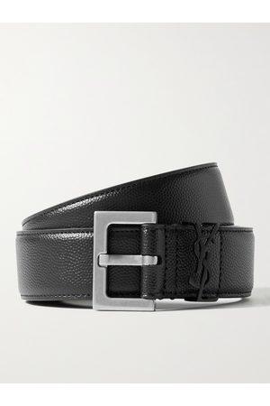 SAINT LAURENT Uomo Cinture - 3cm Pebble-Grain Leather Belt