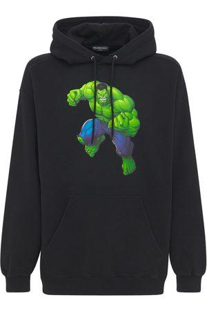 Balenciaga Felpa Hulk In Cotone Con Cappuccio