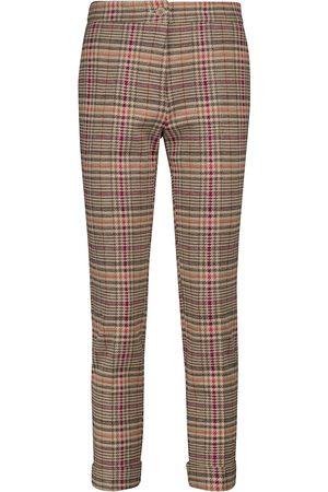 Etro Pantaloni in cotone e lana a quadri
