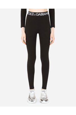 Dolce & Gabbana Pantaloni e Shorts - Leggings in jersey con elastico logato female 36