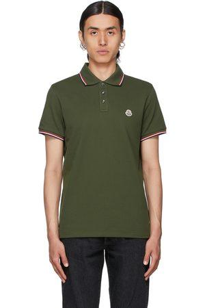 Moncler Green Logo Polo