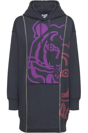 Kenzo Vestito In Cotone Con Cappuccio