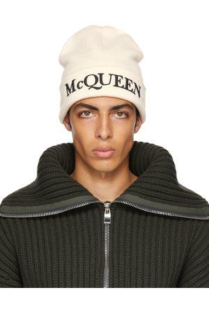 Alexander McQueen Off-White Logo Beanie