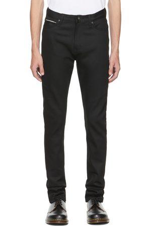 Naked & Famous Denim Black Selvedge Stacked Guy Jeans