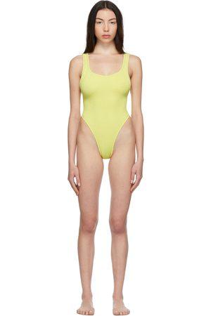 Reina Olga Yellow Scrunch Ruby One-Piece Swimsuit