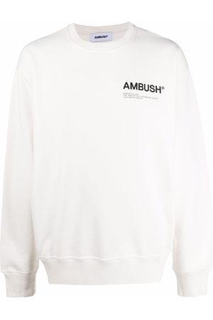 AMBUSH Uomo Felpe - Felpa Fleece Workshop con stampa