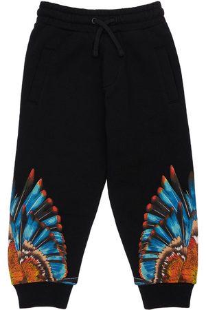 MARCELO BURLON Pantaloni In Felpa Di Cotone Con Stampa