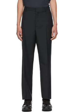 VALENTINO Navy Mohair & Wool Trousers