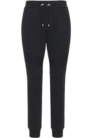Balmain Pantaloni In Felpa Di Cotone Con Logo