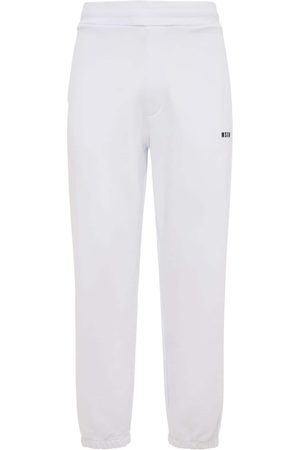 Msgm Pantaloni In Felpa Di Cotone