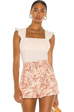 Minkpink Kelsy Textured Top in - Pink. Size L (also in M, S, XS).