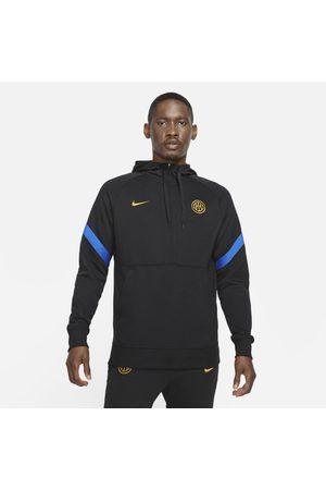 Nike Felpa da calcio in fleece con cappuccio e zip a metà lunghezza Inter - Uomo