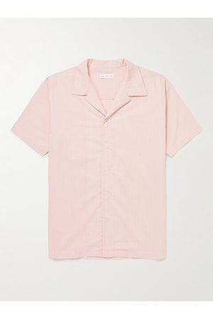 Hamilton and Hare Camp-Collar Pinstriped Cotton Pyjama Shirt