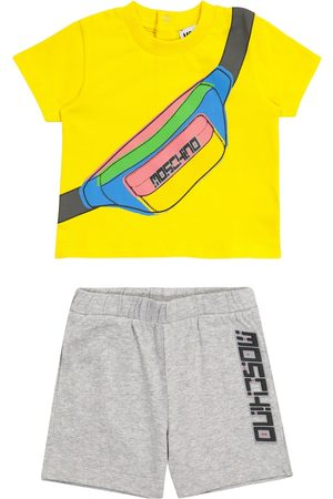 Moschino Baby - T-shirt e shorts in cotone con stampa