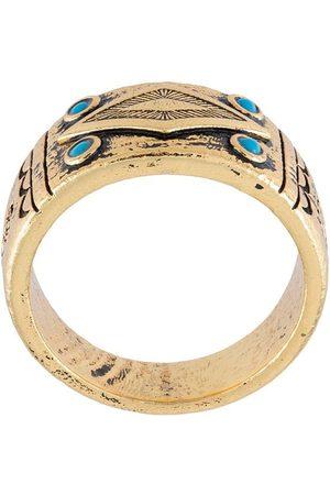 Nialaya Jewelry Uomo Anelli - Anello in onice intagliato