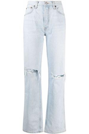 RE/DONE Jeans con effetto candeggiato