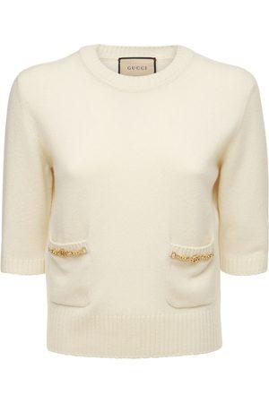 Gucci Donna Cashmere Knit Top W/ Horsebit