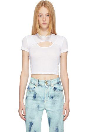 VERSACE White Cut-Out T-Shirt