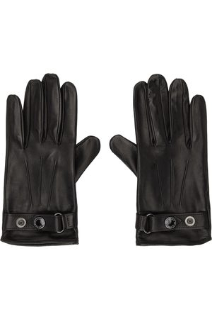 Alexander McQueen Uomo Guanti - Black & Silver Leather New Biker Gloves
