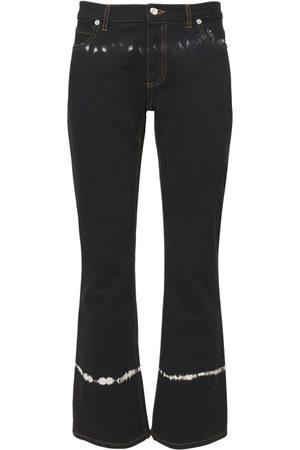 Marni Pantaloni In Denim Di Cotone Tie Dye