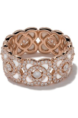 De Beers Jewellers Anello a fascia Enchanted Lotus in 18kt, madreperla e diamanti - ROSE GOLD
