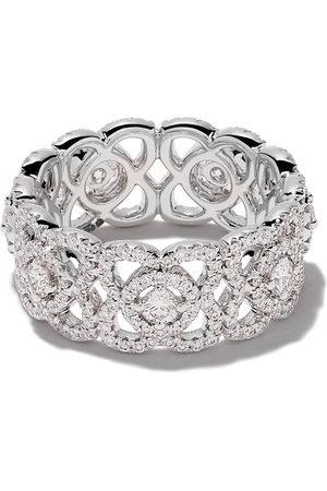 De Beers Jewellers Donna Fascia - Anello a fascia Enchanted Lotus in 18kt e diamanti - WHITE GOLD