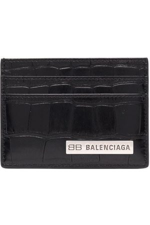 Balenciaga Uomo Portafogli e portamonete - Portacarte con placca logo