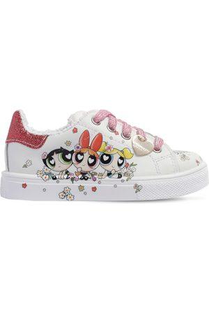 MONNALISA Sneakers Powerpuff Girls In Pelle Con Stampa