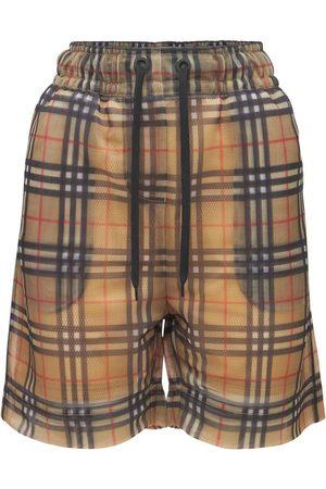 "BURBERRY Donna Pantaloncini - Shorts ""tawney"" Check Con Logo"