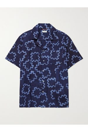 Post-imperial Ijebu Camp-Collar Cotton Shirt