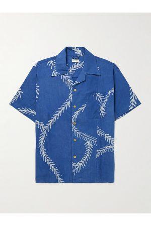 Post-imperial Ijebu Camp-Collar Printed Cotton Shirt