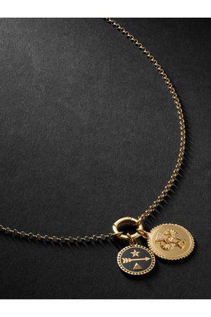 Foundrae Uomo Collane - 18-Karat , Diamond and Enamel Necklace