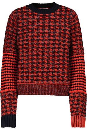 Victoria Beckham Pullover in lana e cotone pied-de-poule