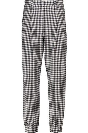 Brunello Cucinelli Pantaloni in lana e cotone a quadretti
