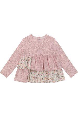 Il Gufo Bambina Bluse - Blusa in cotone con stampa floreale